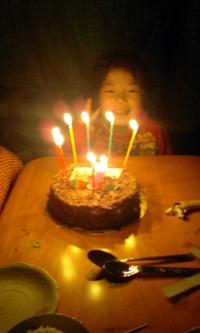 ケーキでホラー映像